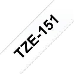 Brother TZe151 Cinta Laminada Generica de Etiquetas - Texto negro sobre fondo transparente - Ancho 24mm x 8 metros