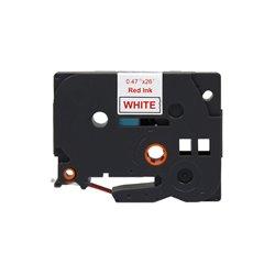Brother TZe232 Cinta Laminada Generica de Etiquetas - Texto rojo sobre fondo blanco - Ancho 12mm x 8 metros