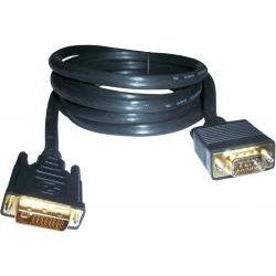 3GO Cable DVI a VGA macho/macho 2m