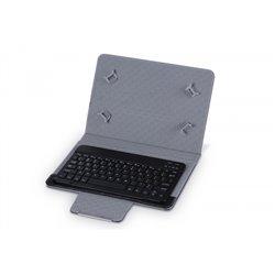 """3GO CSGT28 Funda para Tablet 10"""" con Teclado BT Negra"""