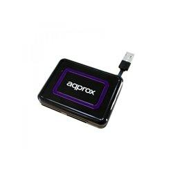 Approx Lector de Tarjetas Externo USB 2.0 - Compatible DNI Electronico 3.0 - Color Negro