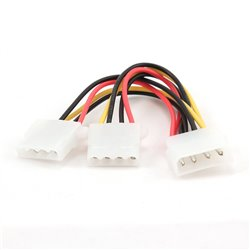 "Gembird Cable Alimentacion Molex 5.25""/M-2x5.25"" 0.20m"