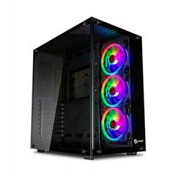 Talius Cronos Caja ATX Gaming - Cristal Templado - 3x Ventiladores Iris Spectrum 12cm - USB 3.0 - Soporta Refrigeracion Liquida