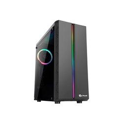 Talius Orbe Caja ATX - Cristal Templado Lateral - 2x SSD - 2x HDD - 2x USB 3.0 - 2x USB 2.0 - Ventilador RGB Spectrum Incluido -