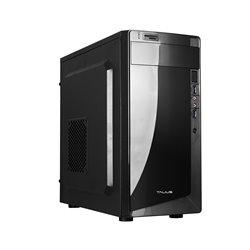 Talius Denver Caja Micro ATX - Fuente 500W - 2x USB 3.0 -  Lector de Tarjetas SD/TF - Ventilador 8cm - Color Negro