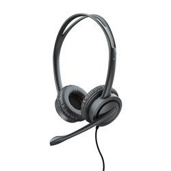 Trust Auriculares con Microfono Mauro - Diadema Ajustable - Almohadillas Blandas - Control de Volumen - Cable 2.5m