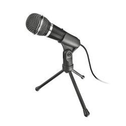 Trust Starzz Microfono - Boton Silenciador - Tripode - Jack 3.5mm - Cable de 2.5m