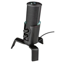 Trust Microfono USB para Streaming con iIuminacion LED y 4 Patrones de Grabacion Negro