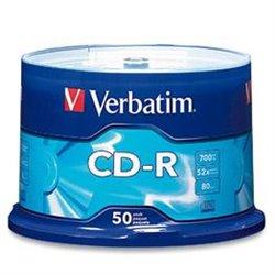 Verbatim CD-R 52x 700MB (Tarrina 50 Uds)