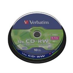Verbatim CD-RW Regrabable 8-12x 700MB (Tarrina 10 Uds)