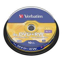 Verbatim DVD+RW Regrabable 4x 4.7GB (Tarrina 10 Uds)