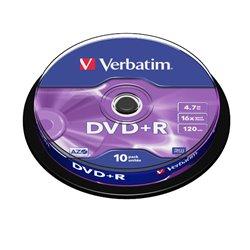 Verbatim DVD+R 16x 4.7GB (Tarrina 10 Uds)