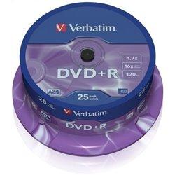 Verbatim DVD+R 16x 4.7GB (Tarrina 25 Uds)