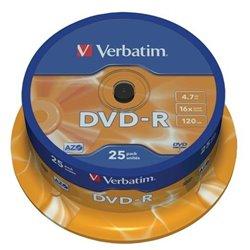 Verbatim DVD-R 16x 4.7GB (Tarrina 25 Uds)