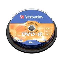 Verbatim DVD-R 16x 4.7GB (Tarrina 10 Uds)