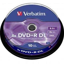 Verbatim DVD+R Doble Capa 8x 8.5GB (Tarrina 10 Uds)