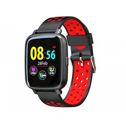 "Billow Smartwatch XS35 - Pantalla IPS 1.44"" - Resistente al Agua IP67 - Tensiometro - Bluetooth 4.0 Negro/Rojo"