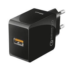 Trust Cargador de Pared USB 3.0 - Carga Rapida QC3.0 - 5V 2.4A - hasta 18W - Deteccion Automatica