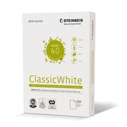 Steinbeis Papel A4 Reciclado 80gr. 210x297mm (500 Hojas) Blancura ISO 70