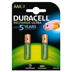 Duracell Pilas Recargables NiHM AAA LR03 1.2V 850mAh Ultra (2 unidades)