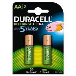 Duracell Pilas Recargables NiHM AA LR6 1.2V 2500mAh Ultra (2 unidades)