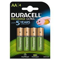 Duracell HR06-P Pilas Recargables NiHM AA LR6 1.2V 2500mAh Ultra (4 unidades)