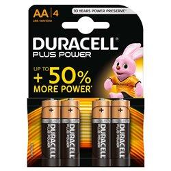 Duracell MN1500B4 Pilas Alcalinas AA LR6 1.5V Plus Power (4 unidades)