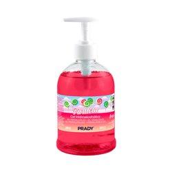 Prady Gel Hidroalcoholico Higienizante 500ml - Aroma de Piruleta - Dosificador - Alcohol 70%